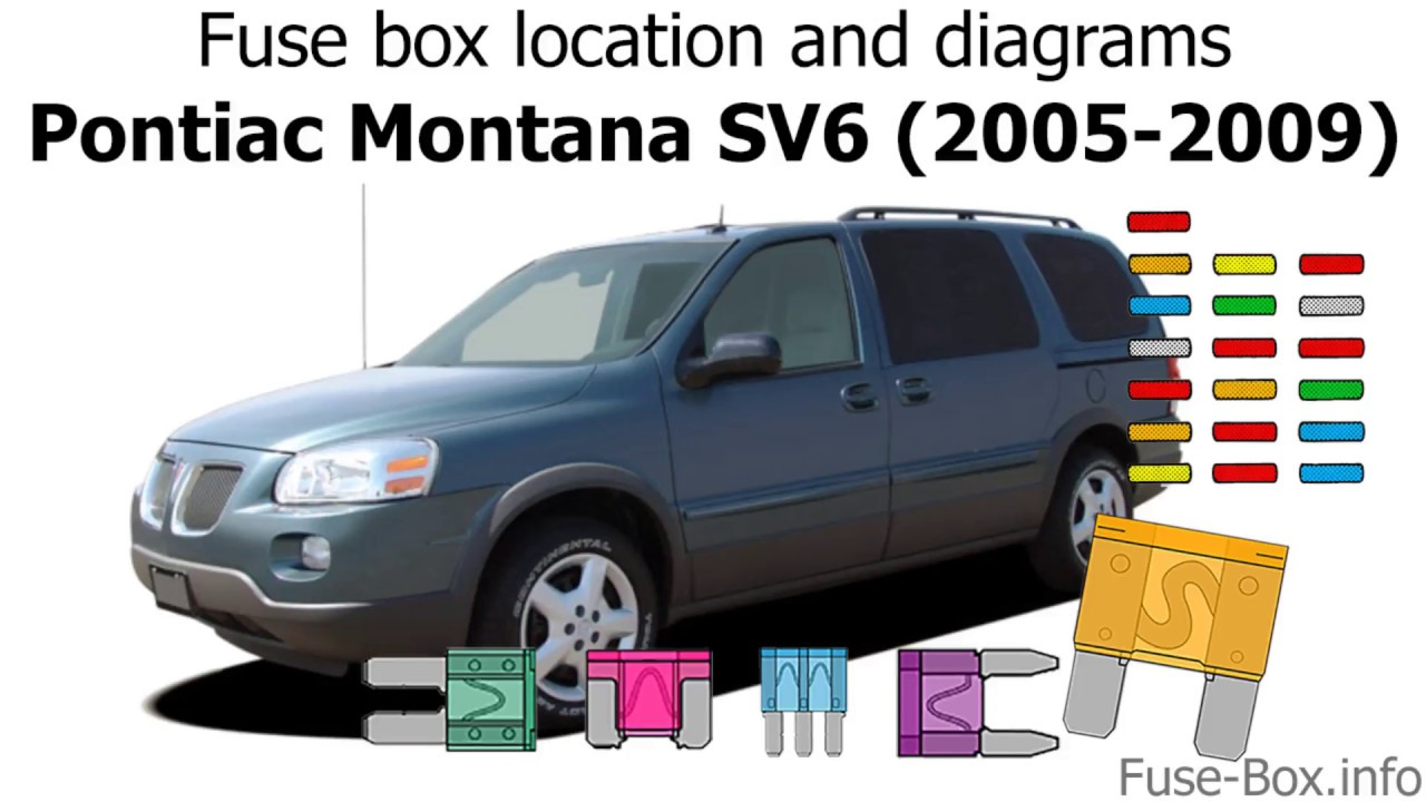 fuse box location and diagrams pontiac montana sv6 2005 2009 fuse box diagram 2001 pontiac [ 1280 x 720 Pixel ]