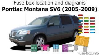 Fuse box location and diagrams: Pontiac Montana SV6 (2005-2009) - YouTube | 1994 Pontiac Transport Fuse Box Diagram |  | YouTube