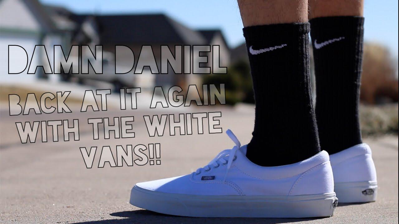 all white vans damn daniel