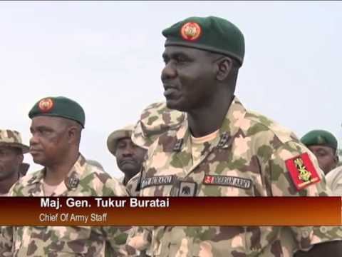 New CAS- Buratai inspects soldiers battle ground