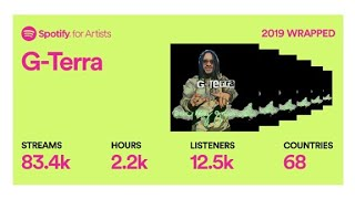 Spotify Wrapped 2019 G-Terra LIVE Going for Millions 2020