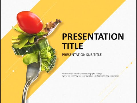 diet animated ppt template