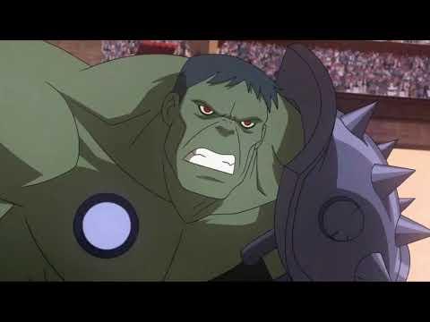 Download PLANET HULK [2010] Scene: Hulk vs. Beta Ray Bill.