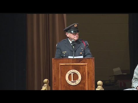 """Lordstown High School honor veterans at """"Take a Vet to School"""" assembly"""