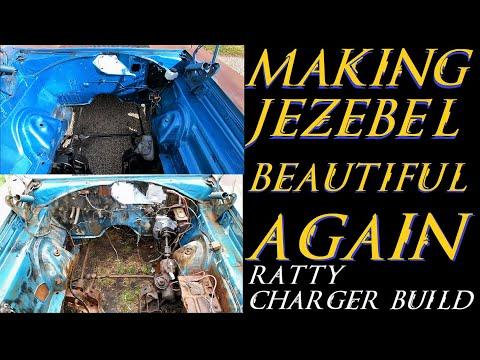 70 Ratty Charger Jezebel Engine bay Beautification