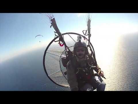 30 Mile Paramotor Flight From Catalina Island to Huntington Beach! XC Powered Paragliding!