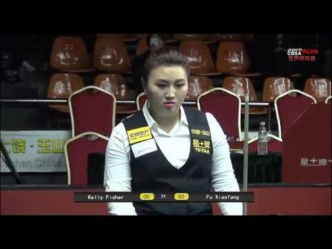 Kelly Fisher VS Fu Xiaofang - Ladies QF - 2017 Chinese Billiards World Championship