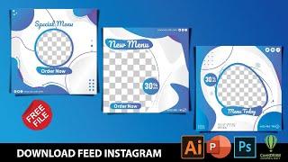 Download Desain Feed Instagram Powerpoint, Photoshop Dan CorelDraw Gratis
