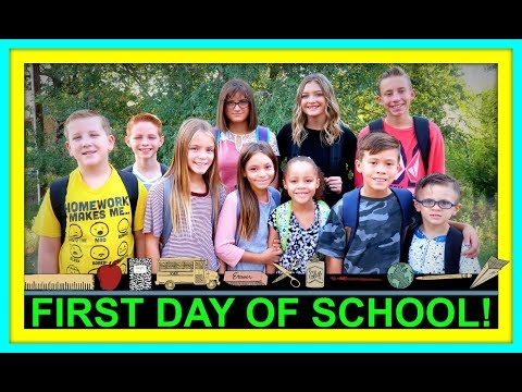 FIRST DAY OF SCHOOL 2018!   BACK TO SCHOOL!