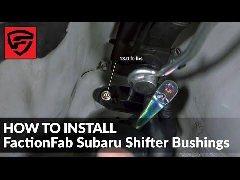 How To Install FactionFab Subaru Shifter Bushings
