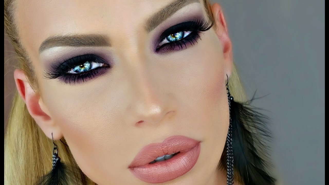 Dark Purple Amp Black Smokey Eye Tutorial Youtube