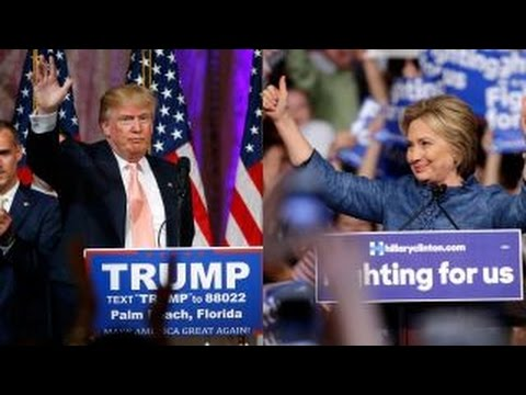 Trump, Clinton battle for voters in swing states