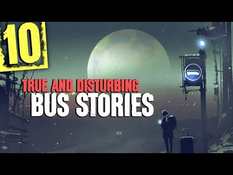 10 SCARY Bus Stories with Country Road Sounds and Wind Sound Effects - Darkness Prevails
