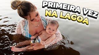 PRIMEIRA VEZ DA MARIA ALICE NA LAGOA DA FAZENDA DO LEONARDO!!