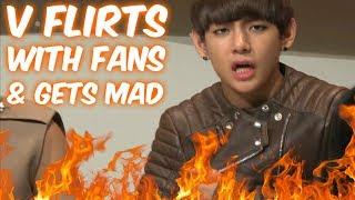 BTS CRACK #5- V FLIRTS WITH FANS THEN GETS MAD!!