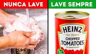 10 Alimentos Que Você Deve e Não Deve Lavar Antes de Cozinhar