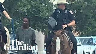 'This is gonna look so bad': bodycam footage shows Texas police leading black man by rope
