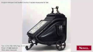 English Antique Coal Scuttle Country Fireplace Accessories