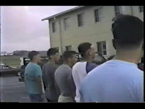 Fire drill at MATCS-18 barracks M-461 - MCAS Futenma (Summer 1987)