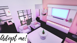 Pink themed family house  speed build Adopt me! (Roblox)