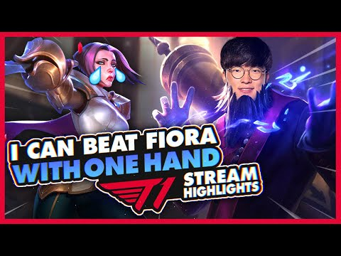 Faker Can Win With One Hand And The Team Does Karaoke! | T1 League Of Legends Stream Highlights
