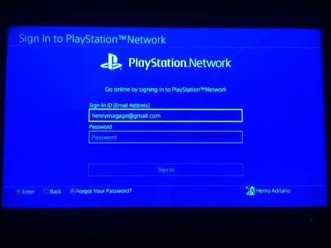 PS4 SIGN IN PROBLEM 2018