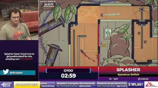 Splasher by Gyoo in 47:01 - SGDQ2017 - Part 110