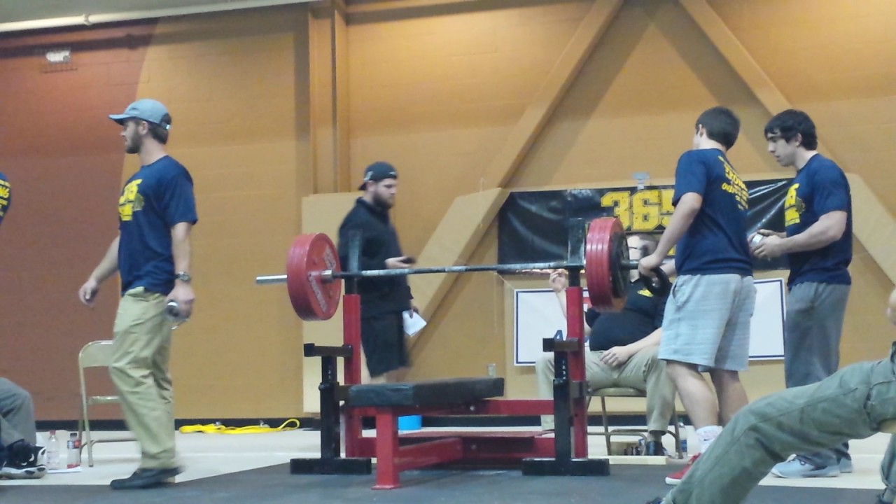 400 Lb Bench Press Club Part - 39: Kole Carter 551 Pound Raw Bench Press At 54 Years Old 2 National Records  565 Pressed 12/23/16
