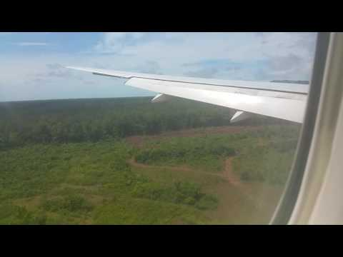 Air France 777 200 landing at Félix Eboué airport,  French Guyana