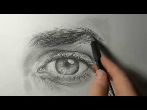 "Akiane - ""Drawing an Eye"" Demo #1"