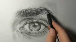"Akiane - ""Drawing an Eye"" Demo #1"