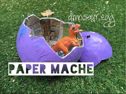 Kids Craft Paper Mache Dinosaur Egg - Mummy Maker
