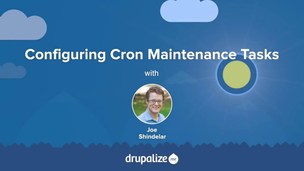 13 2  Configuring Cron Maintenance Tasks | Drupal 8 User
