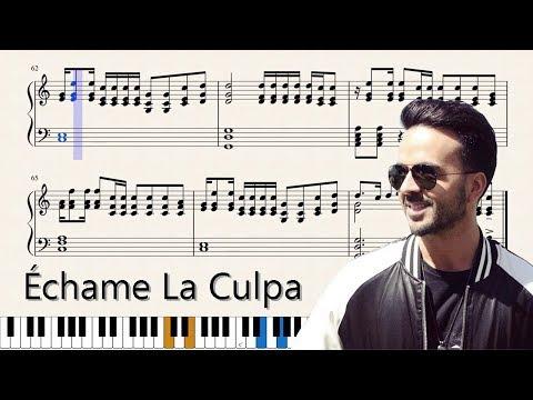Échame La Culpa (ACCURATE Sheet Music For Piano)