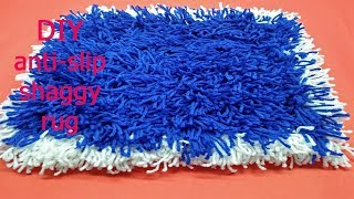 DIY anti-slip shaggy rug I พรมเป็นกระเซิง