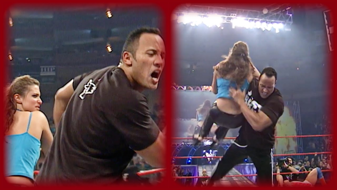 Download The Rock delivers the Rock Bottom to Stephanie McMahon: RAW IS WAR, Aug. 07, 2000
