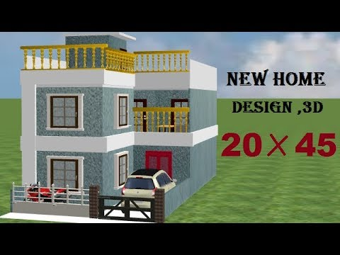 20 By 45 New 3d Home Design With Car Parking 20 45 House Plan 20