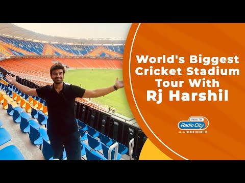 World's Biggest Cricket Stadium Tour with RJ Harshil | Ahmedabad