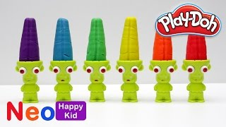 Play Doh Zombie Popsicle Ice Cream Clay Play Dough Learn Colors Fun For Kids NeoHappyKid DIY