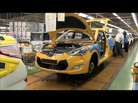 Hyundai Veloster Production at the Ulsan plant, South Korea