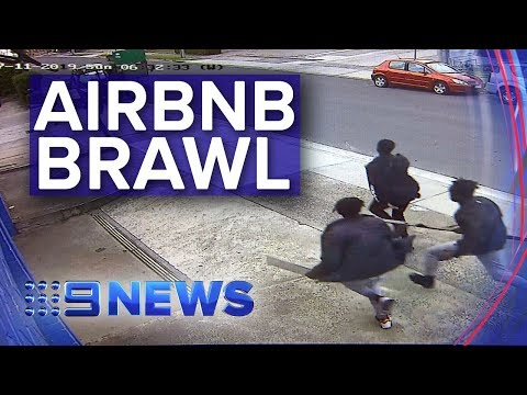 Airbnb Party Ends In Wild Street Fight In Melbourne's East | Nine News Australia