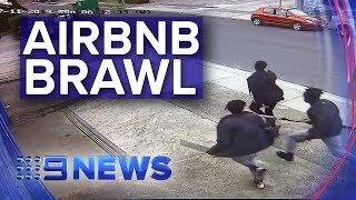 Gambar cover Airbnb party ends in wild street fight in Melbourne's east | Nine News Australia
