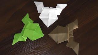 інструкція як зробити стрибає жабу з паперу