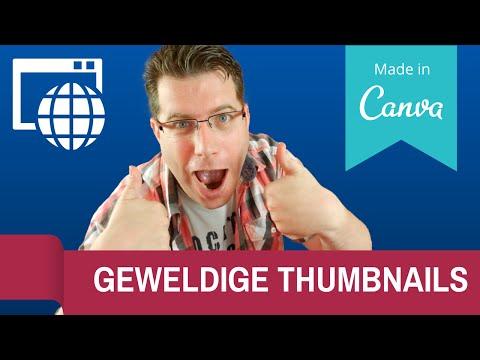 Maak geweldige THUMBNAILS met Canva!