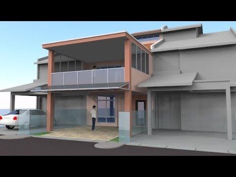 Rekabentuk Tambahan Balkoni Rumah Teres 2 Tingkat Di Yen U13 Setia Alam Shah