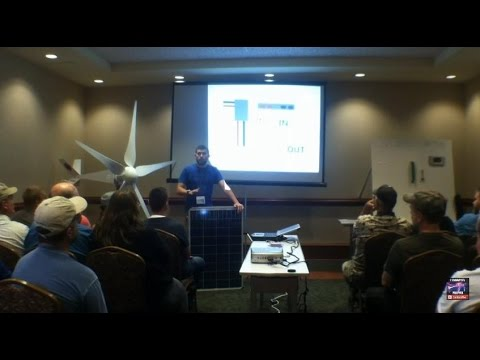How to wire wind and solar for off gird power presented at the mountain prepper expo May 16th, 2015