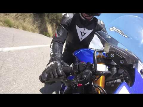 Brake-Throttle view on The Snake, Mulholland Hwy (onboard R6)