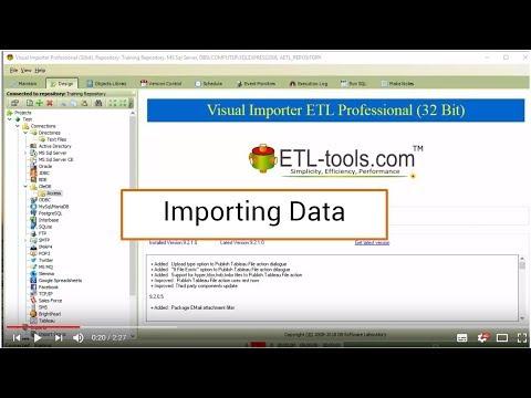 Visual Importer ETL : Importing Data - YouTube