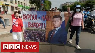 Russians take to streets to demand release of local governor - BBC News
