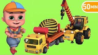 Surprise Eggs | Construction Truck Toy for Kids - Crane Part 04 | Surprise Video from Jugnu Kids